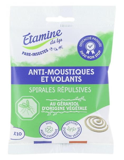 8 spirales Anti Moustique Ecocoil Etamine du Lys Herboristerie de Paris