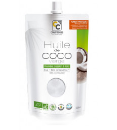 Huile de coco vierge  220ml Comptoirs et compagnies