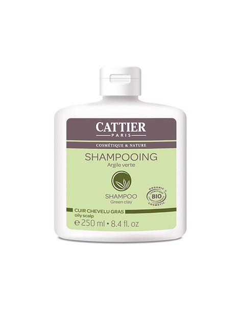 Shampoing à l'argile verte pour cheveux gras 250ml Cattier
