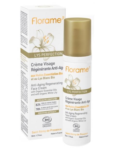 Crème visage régénérante anti âge au Lys blanc 50ml Florame