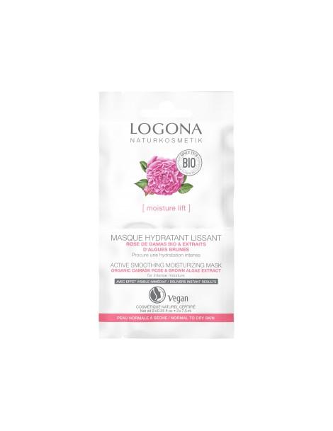 Masque lissant rose de Damas bio et Kalpariane 15ml Logona