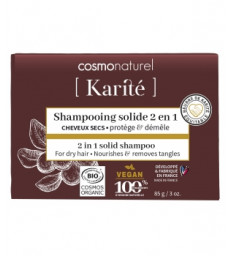 Shampoing solide 2 en 1 85g Cosmo Naturel