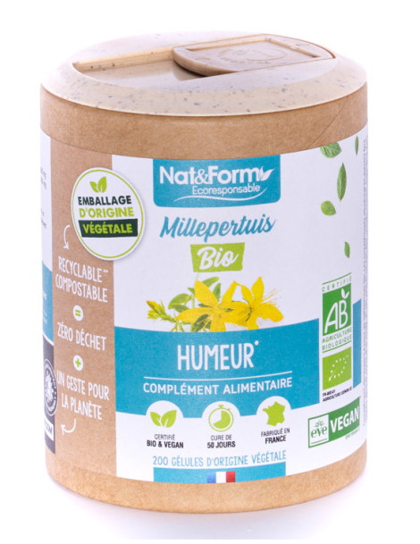 Millepertuis bio 200 gélules Nat et Form Herboristerie de paris