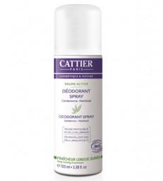 Déodorant Femme Brume Active Cardamome Patchouli sans alcool 100ml Cattier
