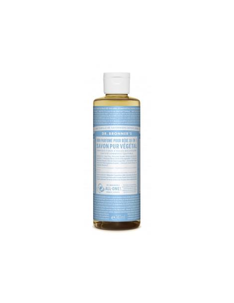 Savon liquide Non parfumé 240ml Dr Bronners