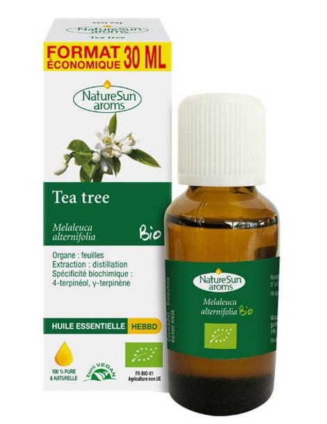 Huile essentielle de Tea Tree bio 30ml NatureSun'arôms arbre à thé Melaleuca alternifolia Herboristerie de paris