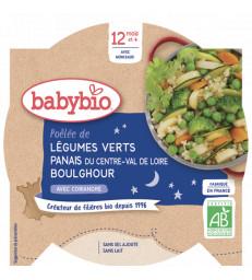 Assiette Bonne Nuit Poëlée de Légumes Verts Panais Boulghour dès 12 mois 230gr Babybio