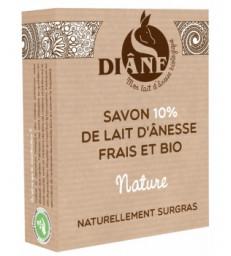 Savon au lait d'ânesse frais et bio Nature 100g Diane