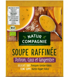 Soupe raffinée Potiron Coco Gingembre BIO 40g Natur Compagnie