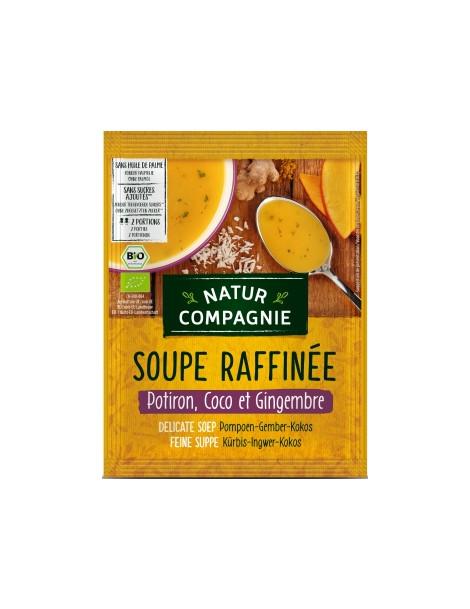 Soupe raffinée Potiron Coco Gingembre 40g Natur Compagnie