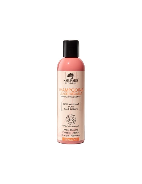 Shampoing usage fréquent sans sulfate 200ml Naturado