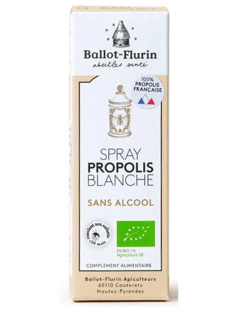 Spray propolis blanche sans alcool 15 ml Ballot Flurin propolis douce et progressive Herboristerie de paris