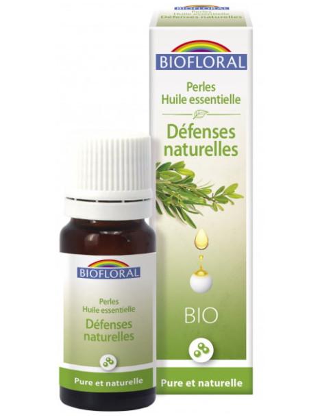 Perles huiles essentielles complexe Défenses naturelles Biofloral tea tree ravintsara niaouli Herboristerie de paris