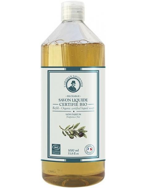 Hygiène Savon liquide sans parfum et sans allergène recharge 1L L artisan Savonnier