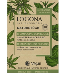 Shampooing soin solide chanvre Ortie Bio 60 gr Logona