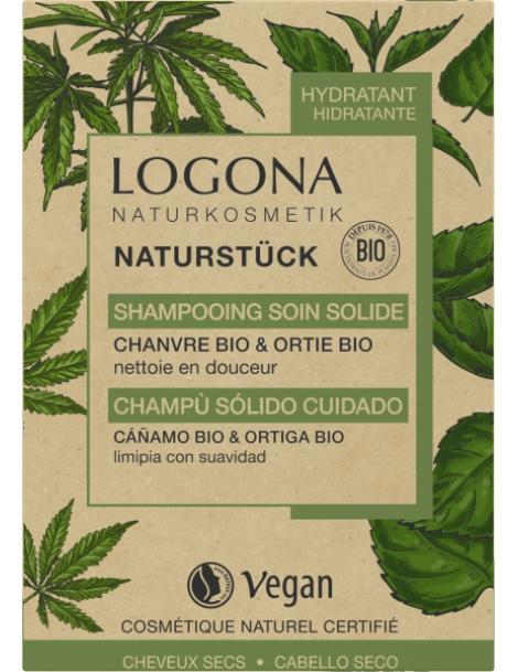 Shampooing soin solide chanvre Ortie Bio 60 gr Logona écologique efficace hydratant Herboristerie de paris