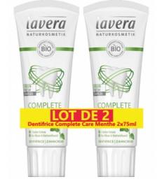Lot de 2 Dentifrice complete care menthe au fluor 2 x 75ml Lavera