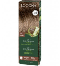 Crème colorante Caramel cheveux blonds moyens à châtains 150ml Logona