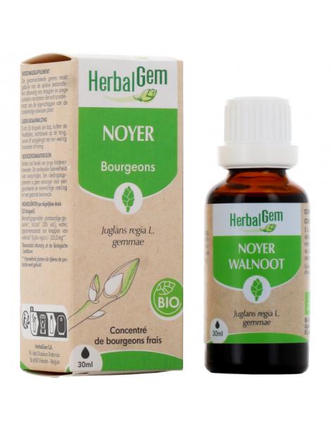 Noyer bio Flacon compte gouttes 50ml Herbalgem Herboristerie de paris