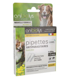 2 Pipettes antiparasitaires grand chien 4ml Anibiolys