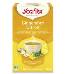 Infusion Gingembre Citron 17 infusettes Yogi Tea