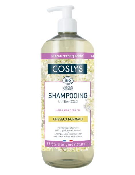 Shampooing cheveux normaux ultra doux reine des prés d'Auvergne 1 Litre Coslys Herboristerie de paris