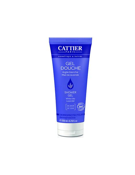 Gel douche dermoprotecteur sans savon Lavande Argile blanche 200ml Cattier