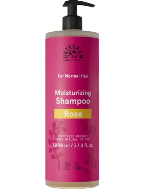 Shampoing à la Rose Cheveux Normaux 1L Urtekram