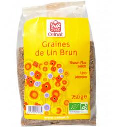 Graines de lin brun BIO 250g Celnat