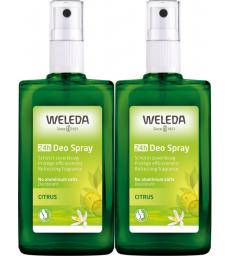 Duo Déodorant spray Citrus 2X100ml Weleda