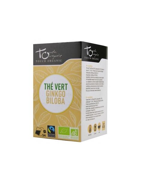 Thé vert BIO au ginkgo biloba 24 sachets 43g Touch Organic