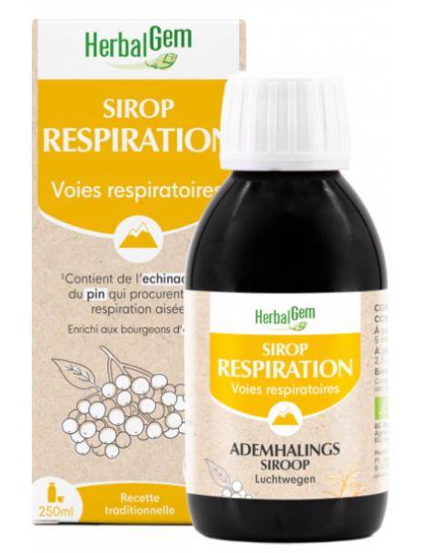 Sirop pour la Respiration bio 250 ml Herbalgem défenses naturelles des voies respiratoires Herboristerie de paris