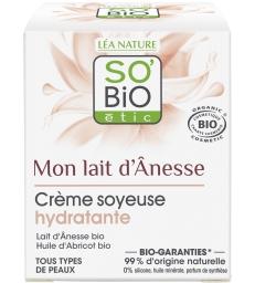 Crème soyeuse hydratante au lait d'anesse 50ml So'Bio étic