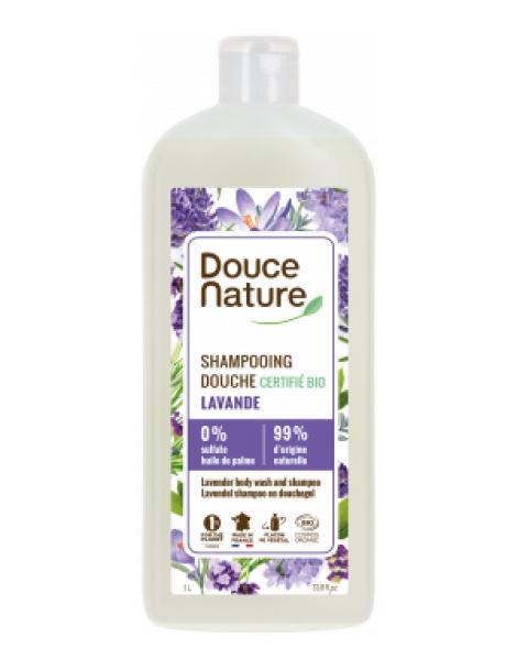 Shampoing Douche Provence Lavande de la Drôme 1L Douce Nature