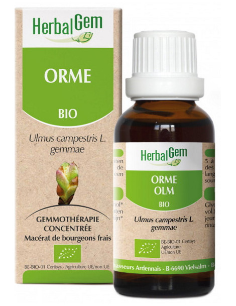 Orme bio Flacon compte gouttes 50ml Herbalgem gemmotherapie Herboristerie de paris