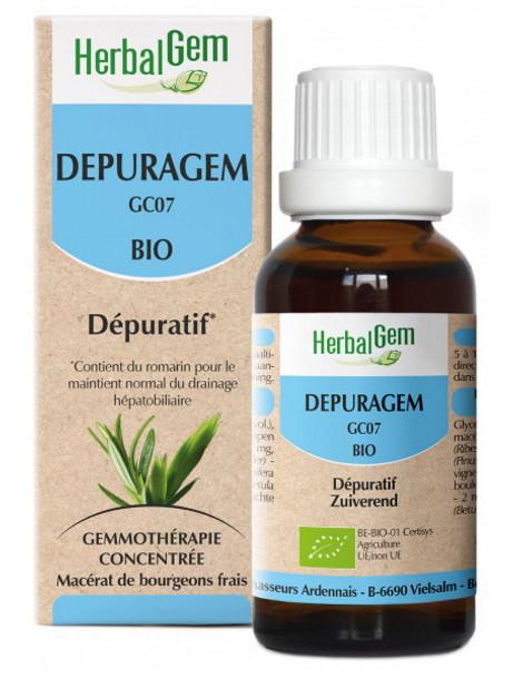 Depuragem Bio Flacon compte gouttes 50ml Herbalgem draineur hépatique Herboristerie de paris