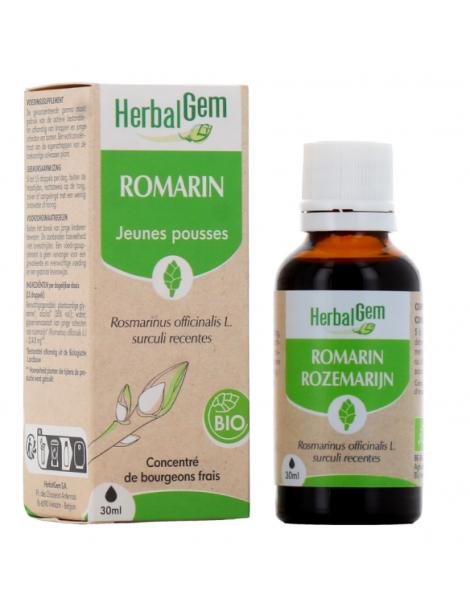 Romarin bio 50 ml HerbalGem digestion foie jeunes pousses Herboristerie de paris