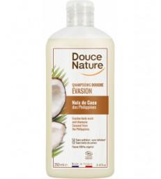 Shampoing douche evasion Noix de Coco des Philippines 250ml Douce Nature