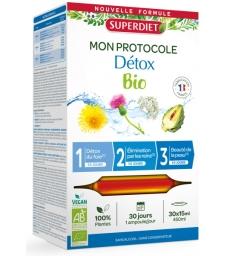 Protocole Détox 3 phases de 10 jours 30 ampoules de 15ml Super Diet