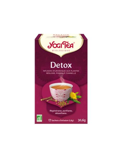 Infusion Détox 17 infusettes Yogi Tea