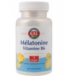 Mélatonine Vitamine B6 60 losanges Solaray