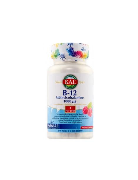 Vitamine B12 1000mcg 90 micro comprimés à sucer Solaray
