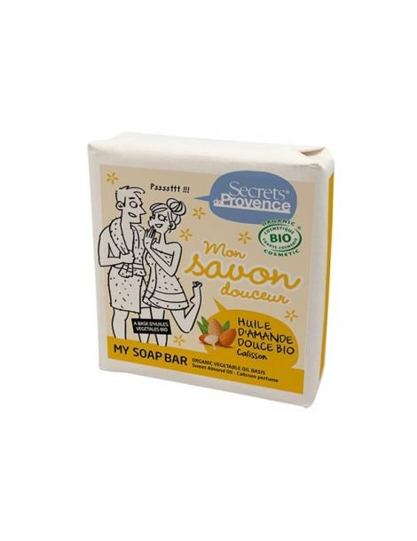 Mon savon douceur huile d'amande douce Parfum Calisson 100g Secrets De Provence