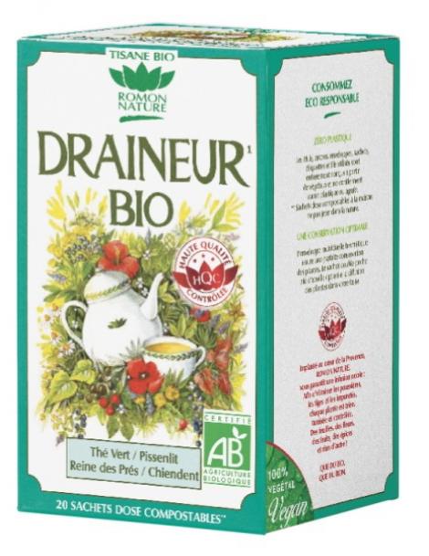 Tisane Draineur 20 sachets 32g Romon Nature