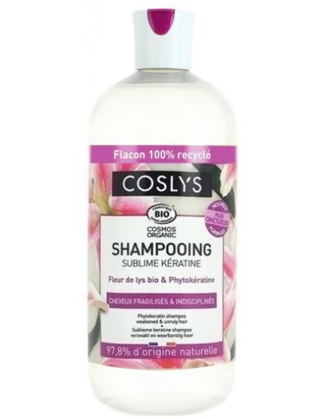 Shampooing Kératine cheveux fragiles et indisciplinés 500ml Coslys
