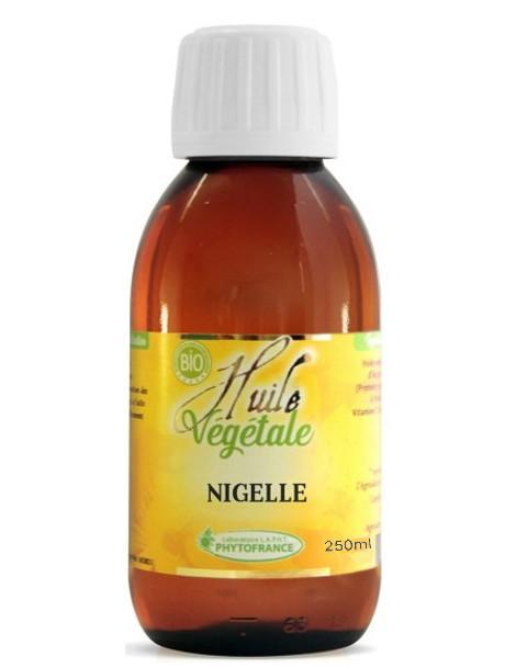 Huile végétale de Nigelle BIO 250ml Phytofrance complément alimentaire Herboristerie de paris