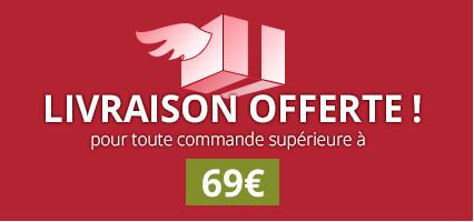 Livraison offerte au dessus de 69€ chez l'Herboristerie de Paris